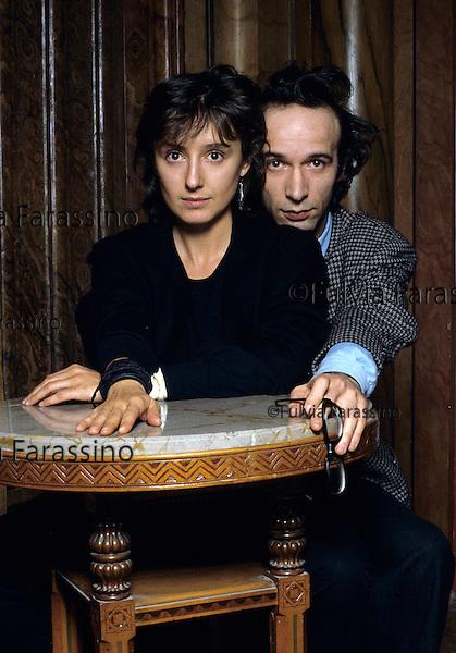 Roberto Benigni e Nicoletta Braschi Festival di Salsomaggiore, 1989