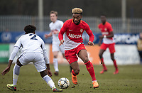 Sylla Moussa of AS Monaco FC Youth during the UEFA Youth League round of 16 match between Tottenham Hotspur U19 and Monaco at Lamex Stadium, Stevenage, England on 21 February 2018. Photo by Andy Rowland.