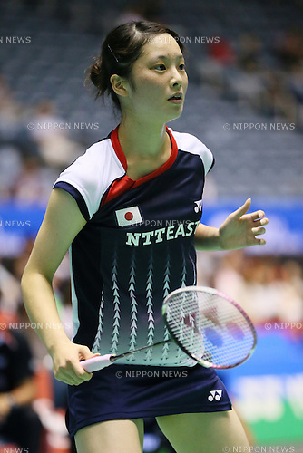 Minatsu Mitani (JPN), .SEPTEMBER 20, 2012 - Badminton : .Yonex Open Japan 2012 .Women's Singles .at 1st Yoyogi Gymnasium, Tokyo, Japan. .(Photo by YUTAKA/AFLO SPORT) [1040]
