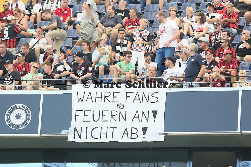 Statement der Frankfurter Fans zu den Vorfällen von Magdeburg - 27.08.2016: Eintracht Frankfurt vs. FC Schalke 04, Commerzbank Arena