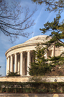 Jefferson Memorial Washington DC Architecture Cherry Blossoms Jefferson Memorial Tidal Basin Washington DC Cherry Blossoms blooming around the Tidal Basin in Washington, DC symbolize the natural beauty of our nation's capital city and has become part of Washington, D.C.'s rite of spring. Landmarks include the Jefferson Memorial, Washington Monument, and US Capitol. A popular tourist attraction and travel destination for many visiting Washington, D.C.