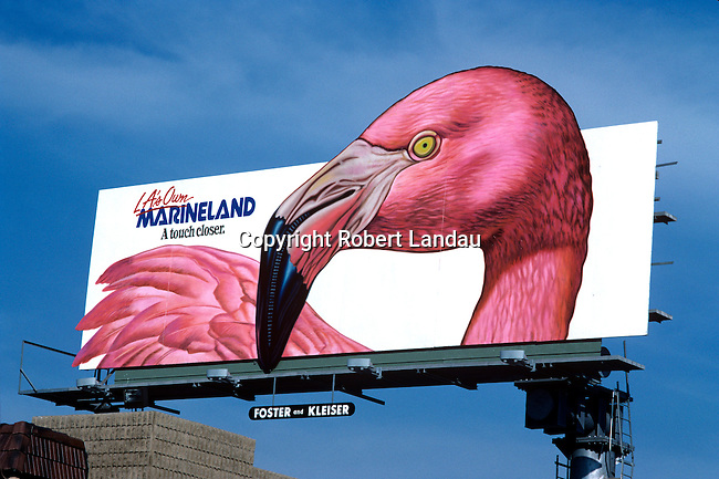 A billboard for Marineland in Los Angeles, CA
