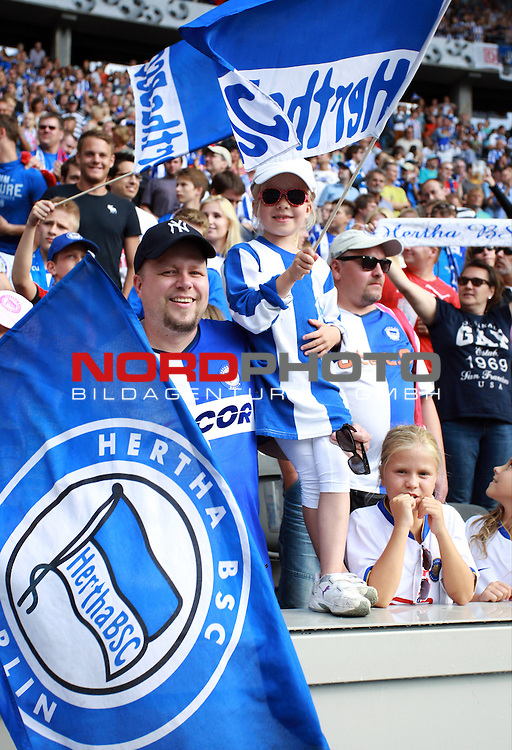 10.08.2013, OLympiastadion, Berlin, GER, 1.FBL, Hertha BSC vs Eintracht Frankfurt, im Bild Hertha-Fankurve<br /> <br />               <br /> Foto &copy; nph /  Schulz