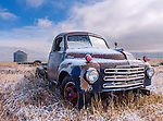 First snow on the old Studebaker Truck, North Central Montana