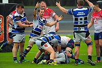 Action from the Mitre 10 Heartland Championship rugby union match between Horowhenua Kapiti and Wanganui at Levin Domain in Levin, New Zealand on Saturday, 7 October 2017. Photo: Dave Lintott / lintottphoto.co.nz