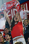 Sevilla CF's supporter during Spanish Kings Cup Final match. May 22,2016. (ALTERPHOTOS/Acero)