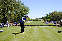 John Rahm (ESP) on the 10th during the 5th round at the WGC Dell Technologies Matchplay championship, Austin Country Club, Austin, Texas, USA. 25/03/2017.<br /> Picture: Golffile | Fran Caffrey<br /> <br /> <br /> All photo usage must carry mandatory copyright credit (&copy; Golffile | Fran Caffrey)