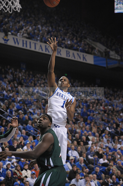 UK's Darius Miller puts up the ball during the second half of the University of Kentucky Men's basketball game against Mississippi Valley State at Rupp Arena in Lexington, Ky., on 12/18/10. Uk won the game 85-60. Photo by Mike Weaver | Staff