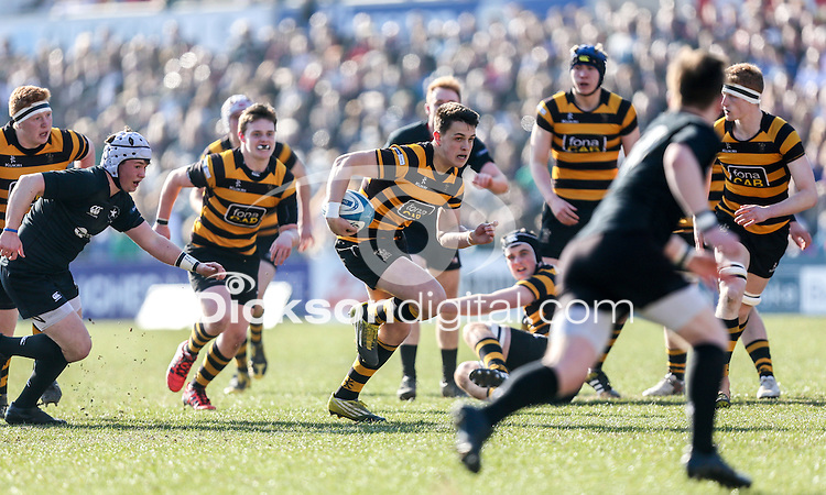 SCF2016 - RBAI vs Campbell College | Thursday 17th March 2016<br /> <br /> James Hume on the attack during the Ulster Schools Cup Final between RBAI and Campbell College at Kingspan Stadium, Ravenhill Park, Belfast, Northern Ireland. Photo credit: John Dickson / DICKSONDIGITAL