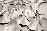 REPUBLIC OF GEORGIA, Whirling Dervishes performing, Tbilisi (B&W)