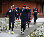 Martyn Waghorn and Josh Windass navigating the icy path to training