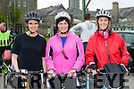 Laura Kelly, Annette Horgan and Margaret Curtin who cycled in the Crumlin Childrens Hospital charity cycle in Killarney on Saturday