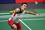 Keigo Sonoda (JPN), <br /> AUGUST 19, 2018 - Badminton : Men's Team round 16 at Gelora Bung Karno Istora during the 2018 Jakarta Palembang Asian Games in Jakarta, Indonesia. <br /> (Photo by MATSUO.K/AFLO SPORT)