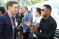NEW YORK, NY - SEPTEMBER 24, 2016 Hugh Evans & Maxwell backstage at the Global Citizen Festival, September 24, 2016 in New York City. Photo Credit: Walik Goshorn / Mediapunch
