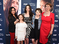 "NORTH HOLLYWOOD, CA - APRIL 19: (L-R) Co-Creator/Executive Producer/Writer/Director Pamela Adlon, Hannah Alligood, Mikey Madison, Olivia Edward, and Celia Imrie attend the For Your Consideration Red Carpet event for FX's ""Better Things"" at the Wolf Theatre at Saban Media Center on April 19, 2018 in North Hollywood, California. (Photo by Frank Micelotta/FX/PictureGroup)"