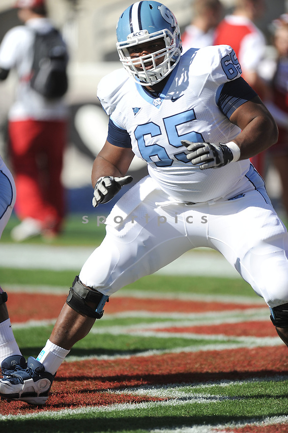 CAM HOLLAND, of the University of North Carolina, in action during UNC's game against NC State on November 5, 2011 at Carter-Finley Stadium in Raleigh, NC. NC State beat North Carolina 13-0.