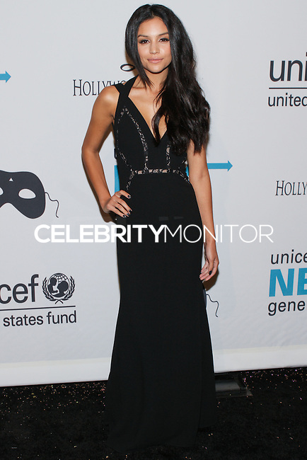 HOLLYWOOD, LOS ANGELES, CA, USA - OCTOBER 30: Bianca Santos arrives at UNICEF's Next Generation's 2nd Annual UNICEF Masquerade Ball held at the Masonic Lodge at the Hollywood Forever Cemetery on October 30, 2014 in Hollywood, Los Angeles, California, United States. (Photo by Rudy Torres/Celebrity Monitor)