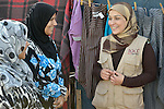 Ahlam Al Khaled, a health and nutrition educator for International Orthodox Christian Charities, talks with women in a settlement of Syrian refugees in Minyara, a village in the Akkar district of northern Lebanon. Lebanon hosts some 1.5 million refugees from Syria, yet allows no large camps to be established. So refugees have moved into poor neighborhoods or established small informal settlements in border areas. International Orthodox Christian Charities, a member of the ACT Alliance, provides support for families in this settlement.