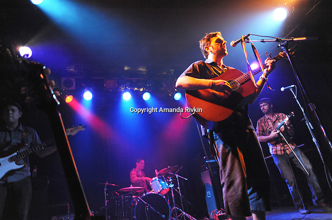 (L-R) Elliot Esparza, Ryan Flanagan, Lorian Toth and Mark Adkison of Pet Peeve are seen during a live set at the Double Door in Chicago on June 5, 2011.