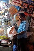 Magazine shop in Madras, India
