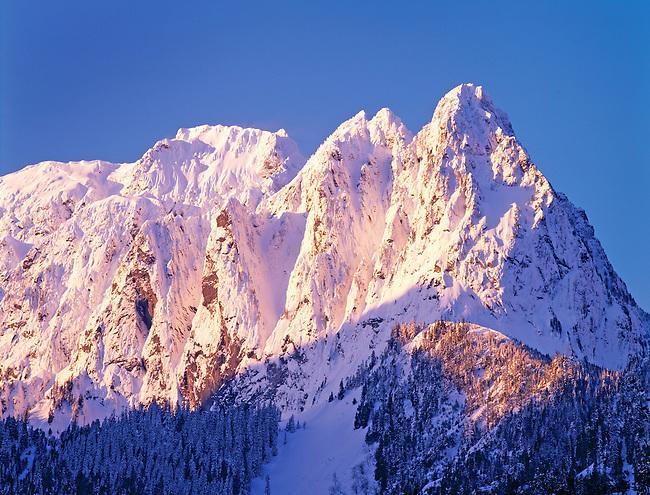 Sunrise on Mt. Index, Washington State Cascades