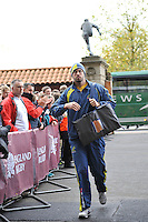 Twickenham, England. Nathan Sharpe of Australia arrives for his last game against England at the QBE international match between England and Australia for the Cook Cup at Twickenham Stadium on November 10, 2012 in Twickenham, England