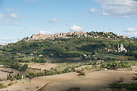 Montepulciano in the Val d' Orcia area of Tuscany