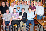 Con O'Mahony, captain Murphys Bar Golf Society, pictured as he presented his prizes from the Murphys Bar Ryder Cup scramble held in Lacabane Golf Course on Saturday.Pictured are Vincent O'Doherty,  Paul Corridan, Pat Casey, Paud O'Donoghue, Mick Casey, Sean Murphy, Christian Casey, ger Moroney, Jimmy Smith, Eoin Donnelan, John O'Shea, Daithi McGillicuddy, Anthony Walsha nd Matthew O'Connor. ..........................................................................