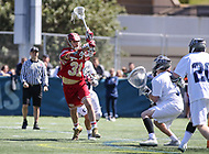 Washington, DC - March 31, 2018: Denver Pioneers Nate Marano (31) shoots the ball during game between Denver and Georgetown at  Cooper Field in Washington, DC.   (Photo by Elliott Brown/Media Images International)