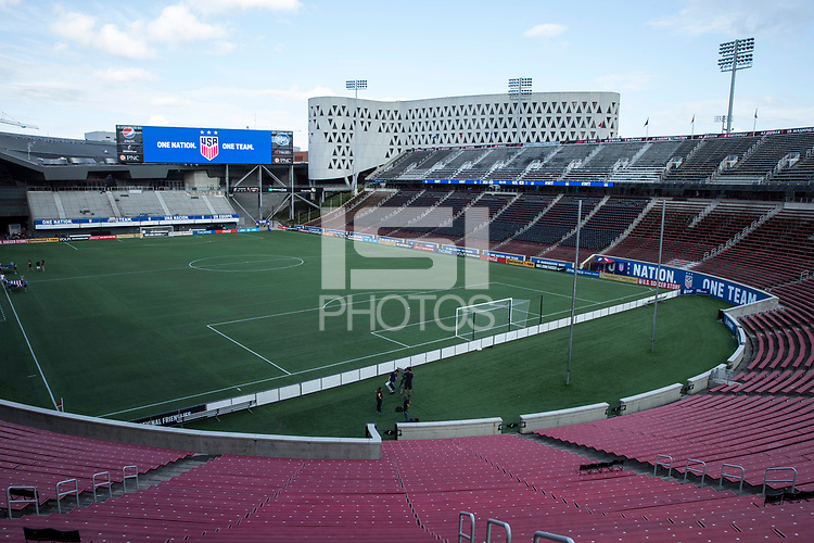 Sep 19, 2017; Cincinnati, OH, USA; General pregame view before the match between USA and New Zealand at Nippert Stadium. Greg Bartram/ISI photos