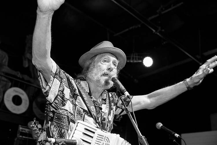 Augie Meyers performs at the Ponderosa Stomp in New Orleans on October 3, 2015.