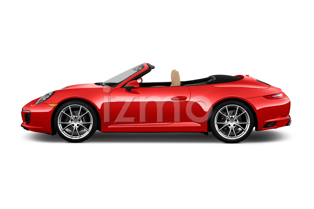 Car Driver side profile view of a 2018 Porsche 911 Carrera 2 Door Convertible Side View