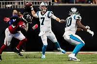 Photography of the Carolina Panthers v.The Atlanta Falcons at the Mercedes-Benz Stadium, during their Sunday afternoon NFL in Atlanta, GA.<br /> <br /> Charlotte Photographer - PatrickSchneiderPhoto.com