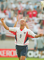 Earnie Stewart celebrates after the game. The USA defeated Mexico 2-0 in the Round of 16 of the FIFA World Cup 2002 in South Korea on June 17, 2002.