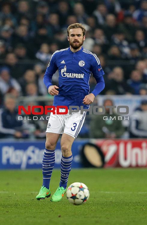 18.02.2015, Veltins-Arena, Gelsenkirchen, Championsleague, FC Schalke 04 vs. Real Madrid<br /> Jan Kirchhoff (Schalke)<br /> Foto &copy; nordphoto /  Bratic