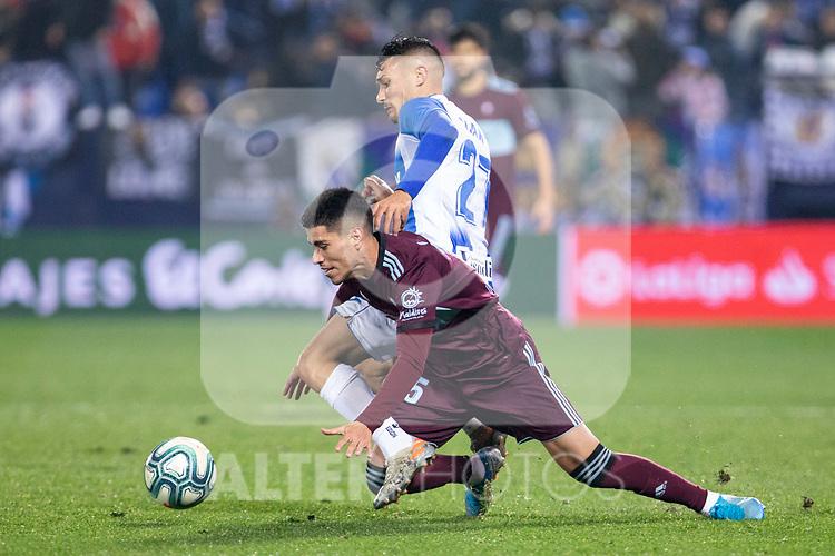 CD Leganes's  Oscar Rodriguez Arnaiz and RC Celta de Vigo's Lukas Olaza during La Liga match 2019/2020 round 16<br /> December 8, 2019. <br /> (ALTERPHOTOS/David Jar)