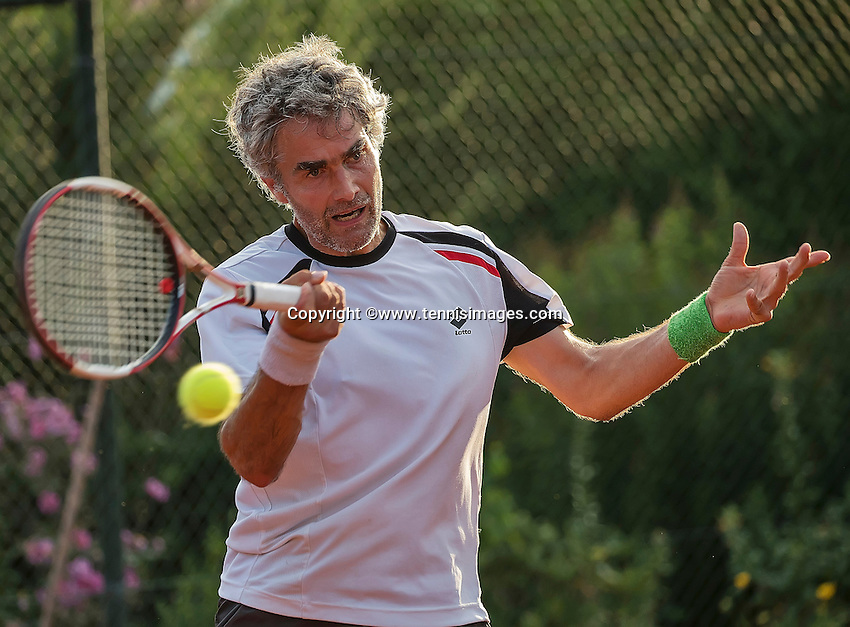 Etten-Leur, The Netherlands, August 23, 2016,  TC Etten, NVK, Bart Theelen (NED)<br /> Photo: Tennisimages/Henk Koster