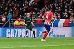 Atletico de Madrid's Santiago Arias and AS Monaco's Andrea Raggi during UEFA Champions League match between Atletico de Madrid and AS Monaco at Wanda Metropolitano Stadium in Madrid, Spain. November 28, 2018. (ALTERPHOTOS/A. Perez Meca)