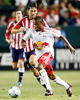 NY Red Bulls midfielder, Dane Richards(19) and Chivas USA forward, Ante Razov(9) battle for the ball during the 1st half. Chivas USA  took on the NY Red Bulls on June 28, 2008 at the Home Depot Center in Carson, CA. The game ended in a 1-1 tie.