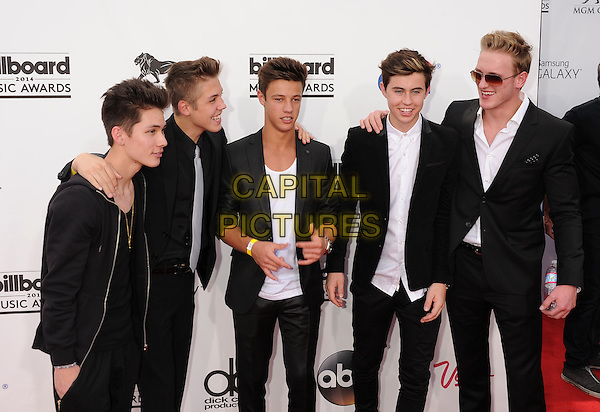 LAS VEGAS, CA- MAY 18: (L-R) YouTube and Vine personalities Nash Grier, Carter Reynolds, Matthew Espinosa, Cameron Dallas and Logan Paul arrive at the 2014 Billboard Music Awards at the MGM Grand Garden Arena on May 18, 2014 in Las Vegas, Nevada.<br /> CAP/ROT/TM<br /> &copy;Tony Michaels/Roth Stock/Capital Pictures