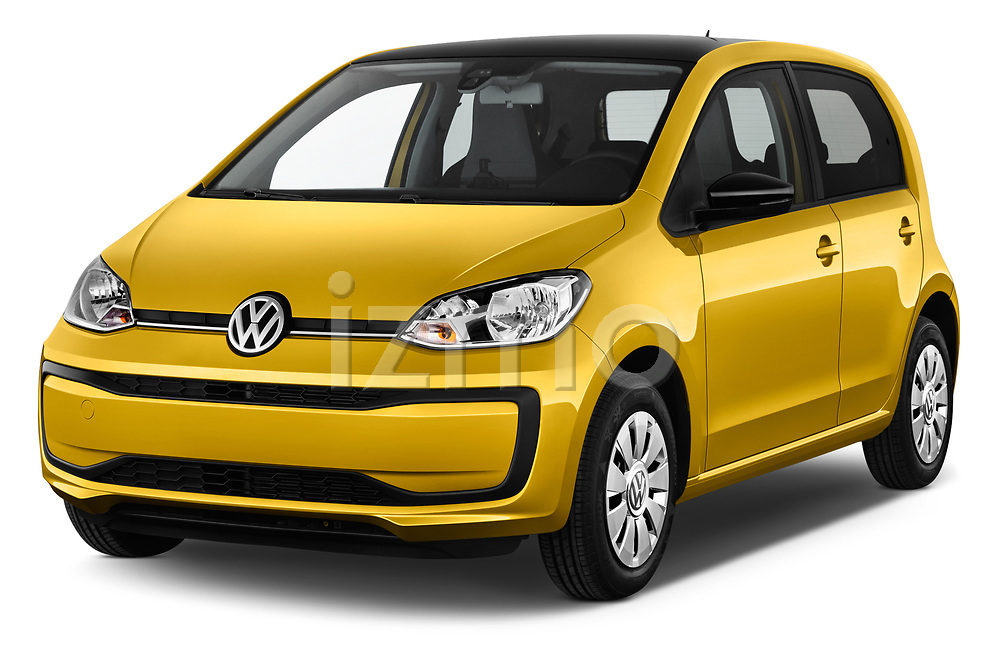 2017 Volkswagen UP Move-up 5 Door Hatchback Angular Front stock photos of front three quarter view