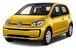 2017 Volkswagen UP Move-up 5 Door Hatchback Angular Front stock photos of front three quarter view