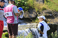 Jin Young Ko (KOR) near the water at the 5th green during Friday's Round 2 of The Evian Championship 2018, held at the Evian Resort Golf Club, Evian-les-Bains, France. 14th September 2018.<br /> Picture: Eoin Clarke | Golffile<br /> <br /> <br /> All photos usage must carry mandatory copyright credit (&copy; Golffile | Eoin Clarke)