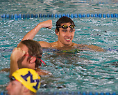 The University of Michigan men's swim and dive team beat Purdue, 153-90, at Canham Natatorium in Ann Arbor, Mich., on January 12, 2013.