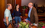 UTRECHT - Ouderavond 6x Vooruit van de KNHB in het Rabobank foofdkantoor. Gespreksleider is John van Vliet met gasten Teun de Nooijer, Steven Pont en Atta de Tolk.   COPYRIGHT KOEN SUYK
