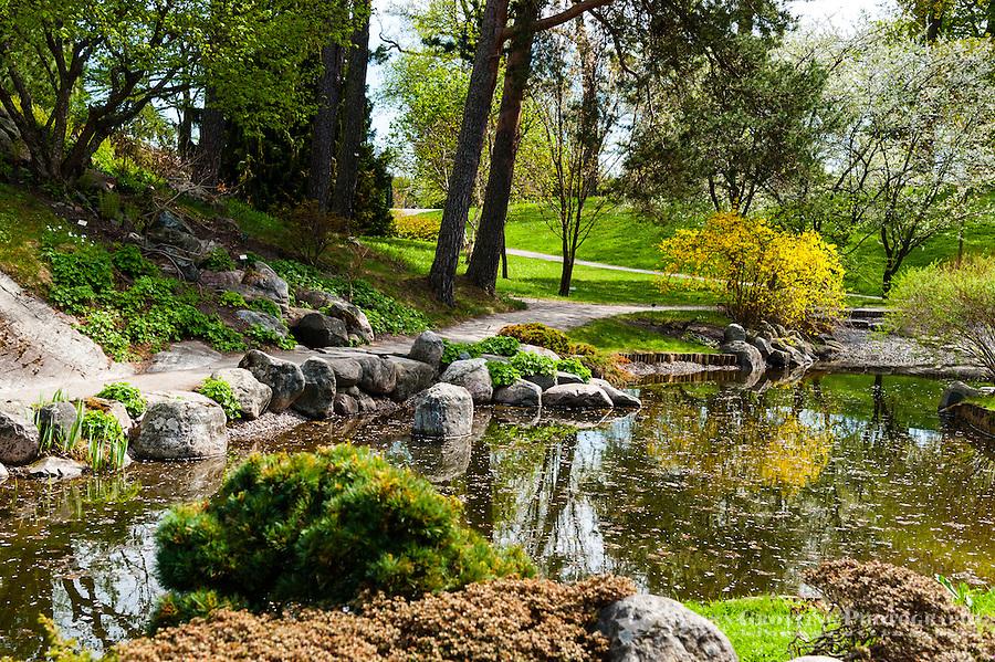 Sweden, Stockholm. Bergianska trädgården.  The Japanese Garden.
