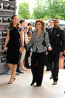 PARIS, FRANCE - JULY 3: Sophia Loren attends the Armani Autumn-Winter 2012 Haute Couture fashion show, held at 'Theatre National de Chaillot' , on July 3, 2012 in Paris, France. Local Caption Sophia Loren  .. / Mediapunchinc *NORTEPHOTO*<br />