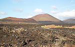 Malpais badlands volcanic landscape Parque Natural Los Volcanes, near Yaiza, Lanzarote, Canary islands, Spain