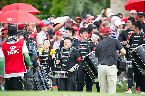 A band,.MARCH 3, 2013 - Golf :.A band plays before the trophy ceremony after the final round of the the HSBC Women's Champions golf tournament at Sentosa Golf Club in Singapore. (Photo by Haruhiko Otsuka/AFLO)