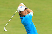 Ryo Ishikawa (JPN) on the 5th during Round 3 of the CIMB Classic in the Kuala Lumpur Golf & Country Club on Saturday 1st November 2014.<br /> Picture:  Thos Caffrey / www.golffile.ie